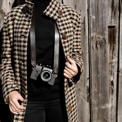 Skórzany pasek do aparatu, prezent dla fotografa, 17