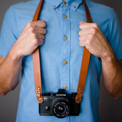Skórzany pasek do aparatu, prezent dla fotografa, 20