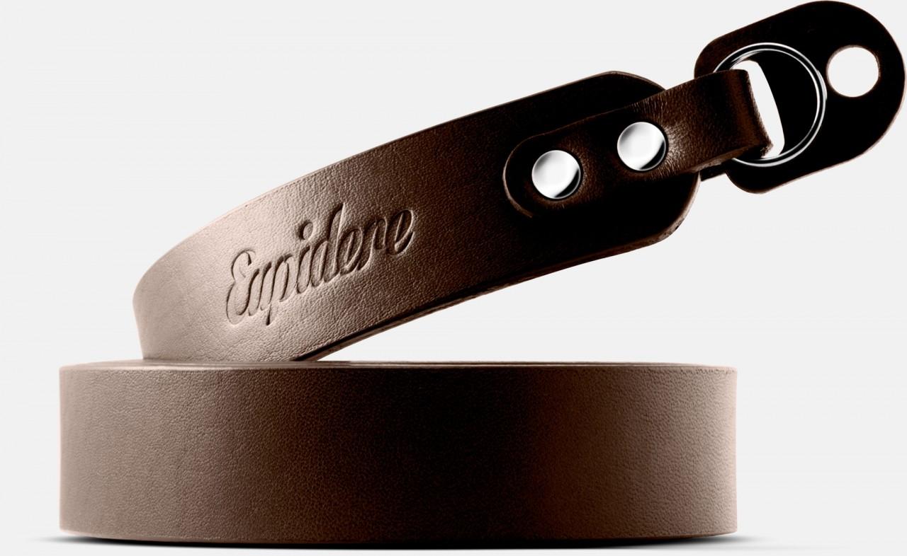 Skórzany pasek do aparatu, prezent dla fotorafa, pasek fotograficzny, Eupidere BLDBR