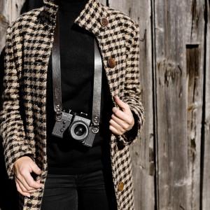 Skórzany pasek do aparatu, prezent dla fotorafa, pasek fotograficzny, Eupidere BLDBR (3)