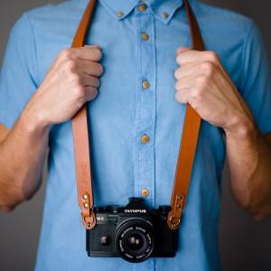 Skórzany pasek do aparatu, prezent dla fotorafa, pasek fotograficzny, Eupidere BLDCG (4)